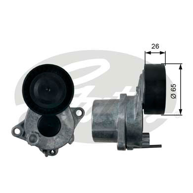 GATES Tensioner Pulley: T39166