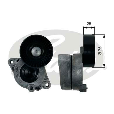 GATES Tensioner Pulley: T39169