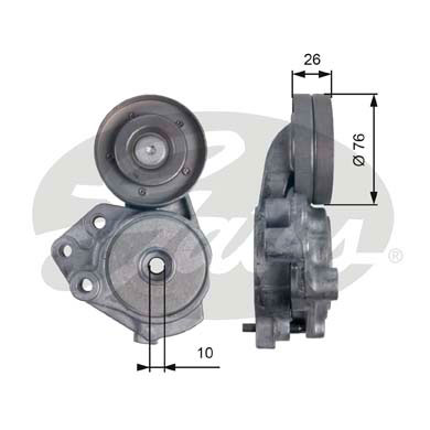 GATES Tensioner Pulley: T39173