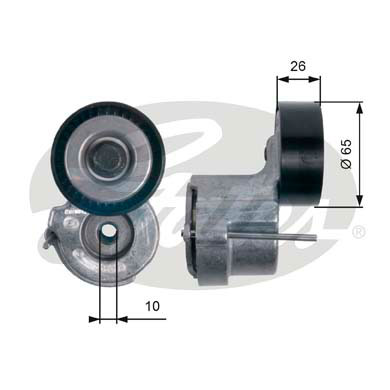 GATES Tensioner Pulley: T39174