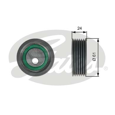 GATES Tensioner Pulley: T39176