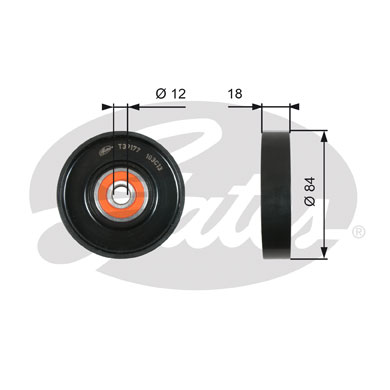 GATES Tensioner Pulley: T39177