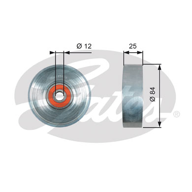 GATES Tensioner Pulley: T39178