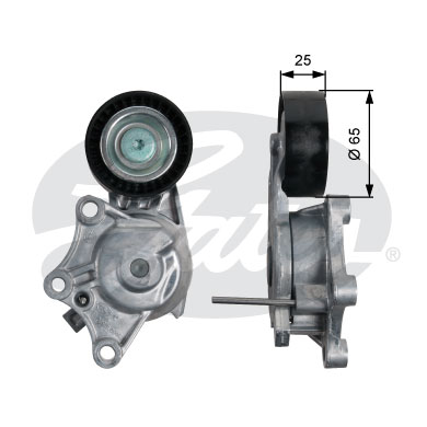 GATES Tensioner Pulley: T39187