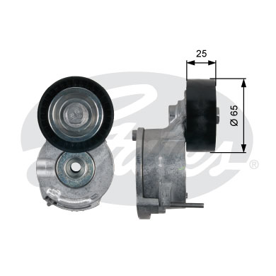 GATES Tensioner Pulley: T39188