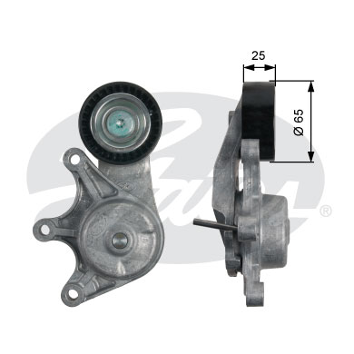 GATES Tensioner Pulley: T39191