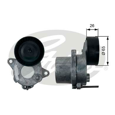GATES Tensioner Pulley: T39196