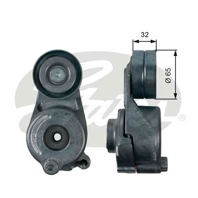 GATES Tensioner Pulley: T39208