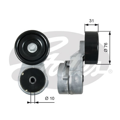 GATES Tensioner Pulley: T39210