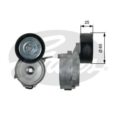 GATES Tensioner Pulley: T39211