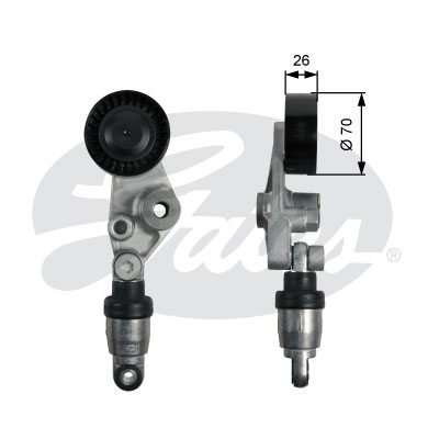 GATES Tensioner Pulley: T39213