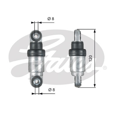 GATES Tensioner Pulley: T39215