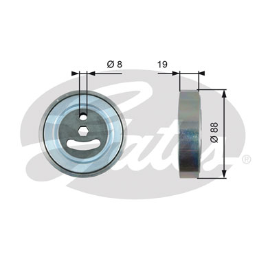 GATES Tensioner Pulley: T39225