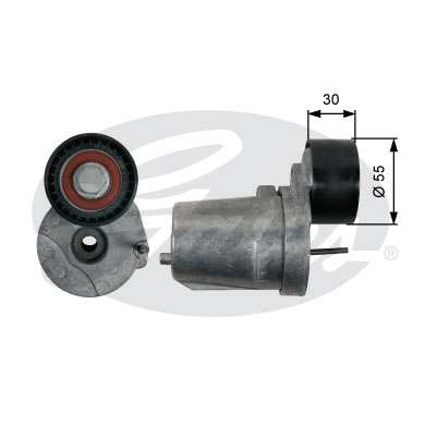 GATES Tensioner Pulley: T39226