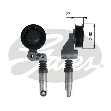 GATES Tensioner Pulley: T39236