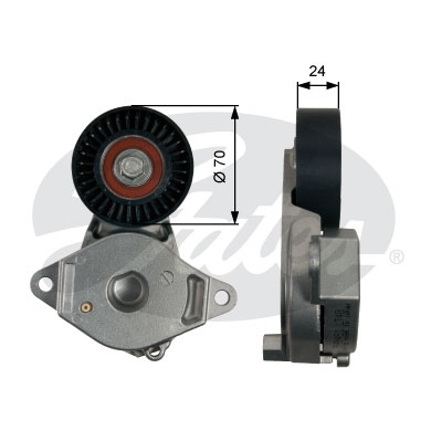 GATES Tensioner Pulley: T39246