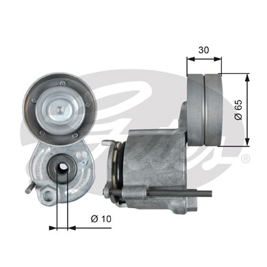 GATES Tensioner Pulley: T39267