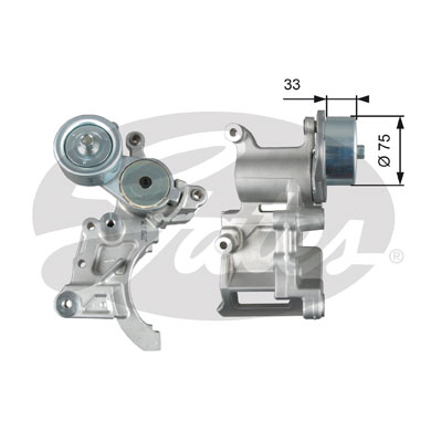 GATES Tensioner Pulley: T39271