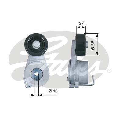 GATES Tensioner Pulley: T39275