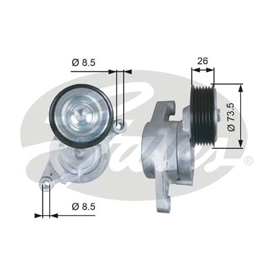 GATES Tensioner Pulley: T39279