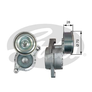 GATES Tensioner Pulley: T39284