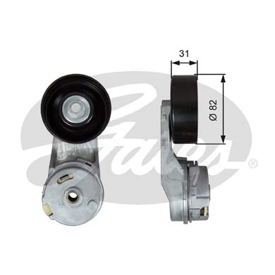 GATES Tensioner Pulley: T39288