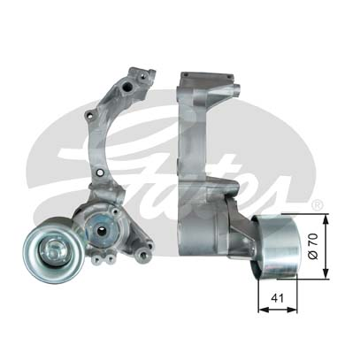GATES Tensioner Pulley: T39296