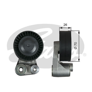GATES Tensioner Pulley: T39347