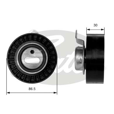 GATES Tensioner Pulley: T41008