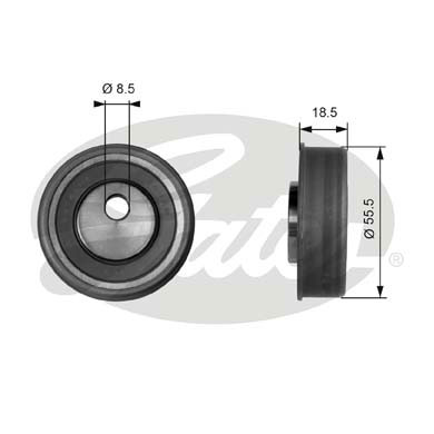 GATES Tensioner Pulley: T41038