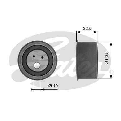 GATES Tensioner Pulley: T41054