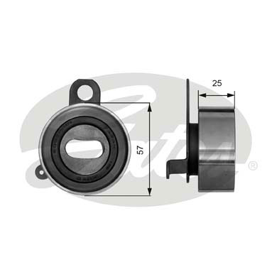 GATES Tensioner Pulley: T41072