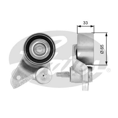 GATES Tensioner Pulley: T41086