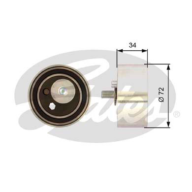 GATES Tensioner Pulley: T41095
