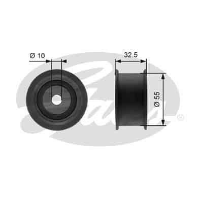 GATES Tensioner Pulley: T41101A