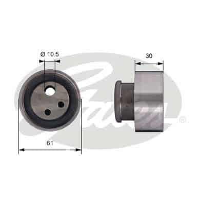 GATES Tensioner Pulley: T41118