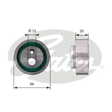 GATES Tensioner Pulley: T41129