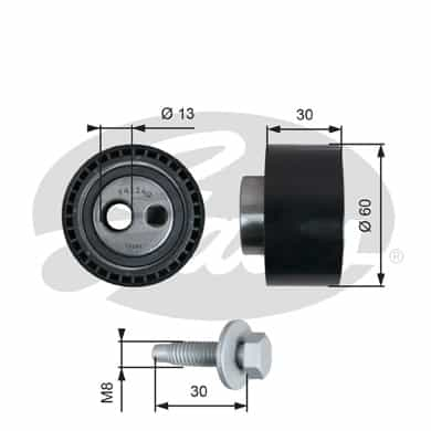 GATES Tensioner Pulley: T41140
