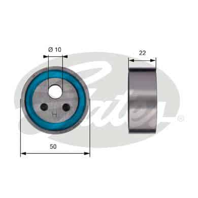 GATES Tensioner Pulley: T41154