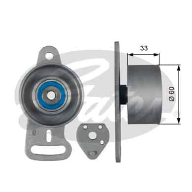 GATES Tensioner Pulley: T41163