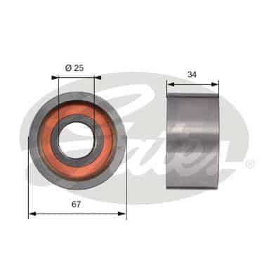 GATES Tensioner Pulley: T41178