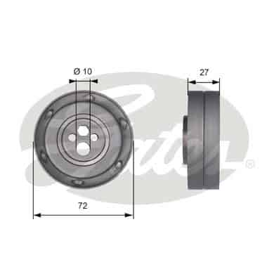 GATES Tensioner Pulley: T41216