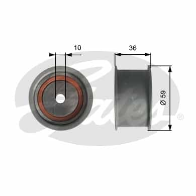 GATES Tensioner Pulley: T41227