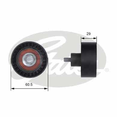 GATES Tensioner Pulley: T41233