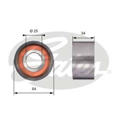 GATES Tensioner Pulley: T41234