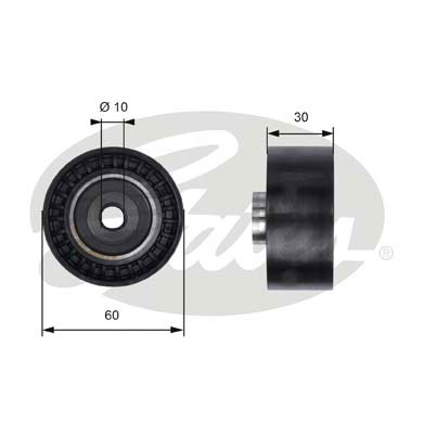 GATES Tensioner Pulley: T41235