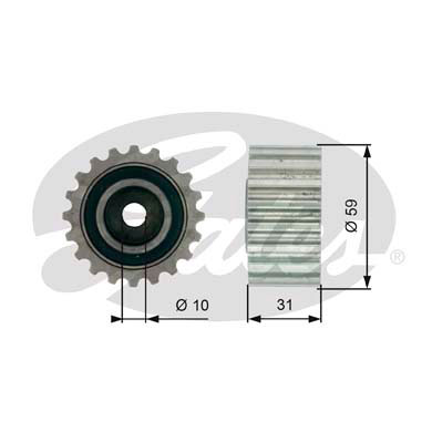 GATES Tensioner Pulley: T41236