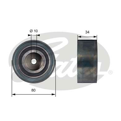 GATES Tensioner Pulley: T41238