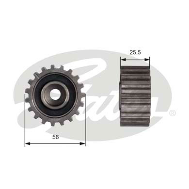 GATES Tensioner Pulley: T42000