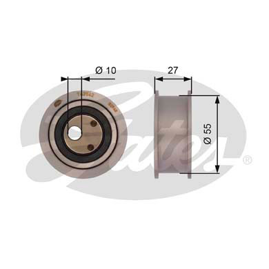 GATES Tensioner Pulley: T42042